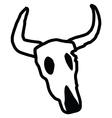 White Cow Skull vector image vector image