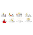winner podium medal and cups trophies on vector image vector image