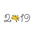 year pig 2019 image is isolated on vector image vector image
