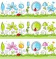 floral decorative lines vector image