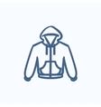 Hoodie sketch icon vector image