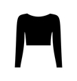 T-shirt top vector image