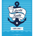 Vintage label with maritime character vector image