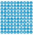 100 e-commerce icons set blue vector image vector image