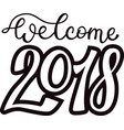 2018 happy new year black text logo for holiday vector image vector image
