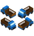 3d design for blue trucks vector image vector image