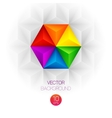 3d triangular background vector image vector image