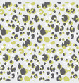 abstract leopard skin seamless pattern vector image vector image