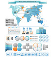 air travel infographic concept vector image vector image