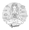 aquarius zodiac sign line art vector image