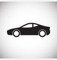 automobile icon on white background for graphic vector image vector image