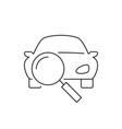 automotive diagnostic linear icon on white