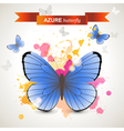 azure butterfly vector image vector image