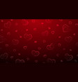 background big and small hearts vector image vector image