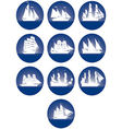 Badges with sailing ships-3 vector image vector image