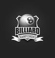 billiard logo template design vector image vector image