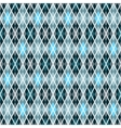 Blue and gray seamless checkered pattern vector image vector image