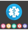 blue medical icon flat web sign symbol logo label vector image