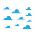 blue sky with cloud background vector image