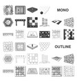 board game monochrom icons in set collection for vector image vector image