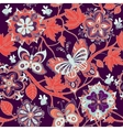 Bright colorful seamless pattern Flowers vector image