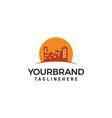 building sun logo design template vector image vector image