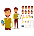 business man with beard vector image vector image