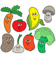 cartoon vegetable collection 1 vector image