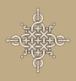celtic knot - engraved - single chain - wands vector image vector image