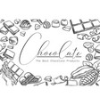 chocolate products layout outline vector image
