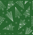 christmas trees and snowflakes seamless pattern vector image