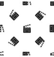 clapperboard pattern seamless black vector image vector image