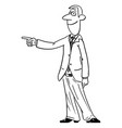 comic cartoon man or businessman showing or vector image