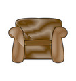 Couch seat armchair comfort furniture image vector image