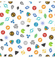 cryptocurrency seamless pattern crypto currency vector image vector image
