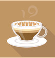 cup of coffee caramel macchiato flat design vector image