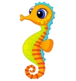 Cute seahorse cartoon vector | Price: 1 Credit (USD $1)
