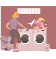 Doing laundry vector image vector image