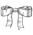 doodle bow ribbon vector image vector image