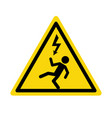 electric high voltage danger haard icon electric vector image vector image