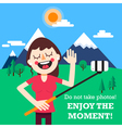 Enjoy the moment vector image vector image