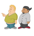 fat guys vector image vector image