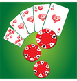 gambling background vector image vector image