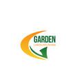 garden landscape company letter g icon vector image vector image