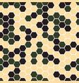 gexagonal camouflage digital pattern vector image vector image