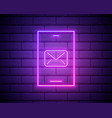 glowing neon new chat messages notification on vector image vector image