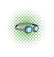 Goggles for swim icon comics style vector image vector image