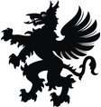 griffin tattoo black white silhouette vector image vector image