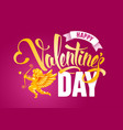 happy valentines day greeting card with cupid vector image vector image