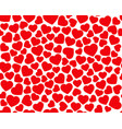 hearts seamless pattern valentines day vector image vector image